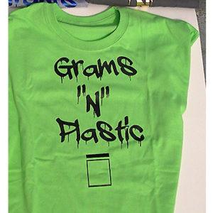 Grams t shirt grn blk